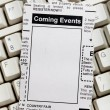 Foto Stock: Coming Events Classifieds