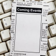 Stockfoto: Coming Events Classifieds