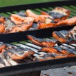 Barbecue Grill Salmon — Stock Photo