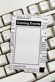 Coming Events Classifieds — Stock Photo