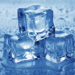Ice cubes. - Stock Photo