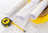 ヘルメット建設計画 — ストック写真