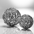 Decorative metal balls — Stock Photo