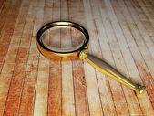 Magnifying glass on the table — Foto Stock