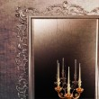 Antique mirror and candle holder — Stock Photo #11407372
