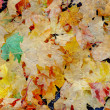 Texture of Maple leaves in autumn — Stock Photo