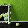 Creative picture and apples — Stockfoto