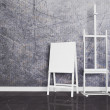 Retro white easels — Stock Photo