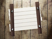 Wooden boards nailed to the wall — Stock Photo