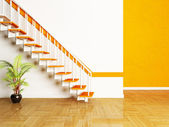 A plant and a stairs in the room — Stock Photo