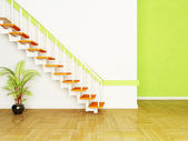 A plant and the stairs in the room — Stock Photo