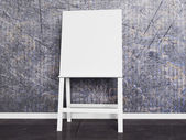 White wooden easel — Stock Photo