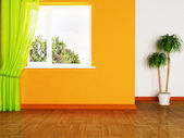 A plant and the window — Stock Photo