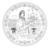 Gift Medal reverse — Stock Vector