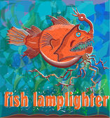 Fish lamplighter — Stock Vector