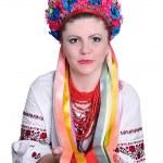 Woman in national ukrainian (russian) costume. Portrait. — Stock Photo