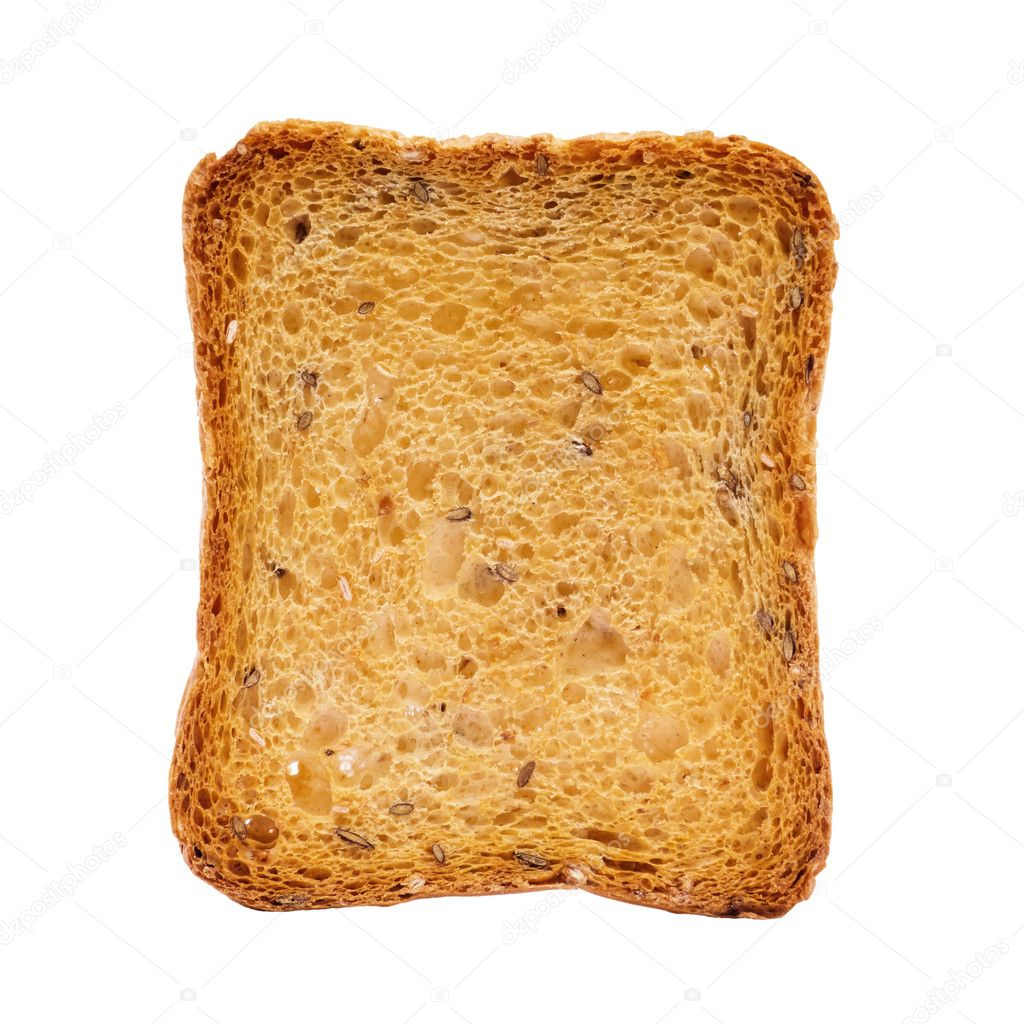 Toast isolated on white with clipping path — Stock Photo #11984520