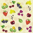 Vector berries background — Stock Vector