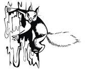 Artistic sketch - squirrel — Stock Vector