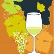 Glass for white French wine - Chardonnay — Vector de stock #11164765