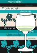 White French wine - Montrachet — Stock Vector