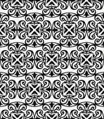 Mönster med blommig och geometrisk ornament. — Stockvektor