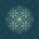 Vector pattern - floral and geometrical ornament — Stockvector