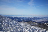 Soft rime and Mt. Iide in Japan — Stock Photo