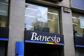 Banesto sits on display outside — Stock Photo