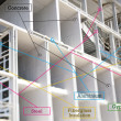 Infographics of building materils - 图库照片