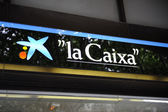 Central branch of La Caixa Bank in Palma — Stock Photo