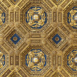 Golden roof in Palazzo Vecchio — Stock Photo