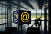Wireless Hot Spot in airport — Stock Photo