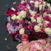 Rosor i blomstermarknaden, paris — Stockfoto