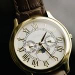 Fine Swiss wristwatch — Stock Photo