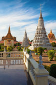 Royal Palace gardens in Phnom Phen, Cambodia — Stock Photo