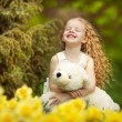 Happiness in the blooming garden - Stock Photo