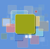 Abstract cube technology Design vector background — Stock Vector