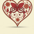 Vintage heart background — Stockfoto