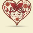 Vintage heart background — Stock Photo