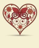 Serce starodawny tło — Zdjęcie stockowe