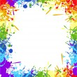 Royalty-Free Stock Векторное изображение: Color rainbow paint splashes for background vector eps