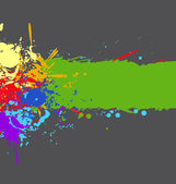Color rainbow paint splashes for background vector eps — Stok Vektör