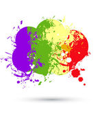 Color paint splashes cloud for background vector — Stock Vector