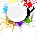 Abstract splash grunde background design vector illustration — Stock Vector