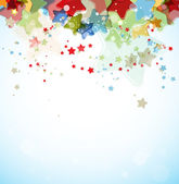 Abstract color stars vector background — Stock Vector
