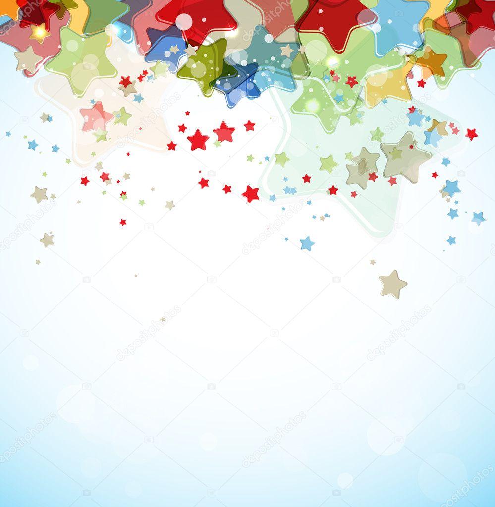 抽象彩色星星矢量背景