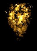 абстрактный космический футбол векторный фон со звездами — Cтоковый вектор