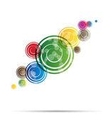 Abstrakte farbe helle ringe für vektor-hintergrund — Stockvektor