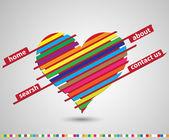 Abstracto rojo corazón sitio web vector fondo — Vector de stock